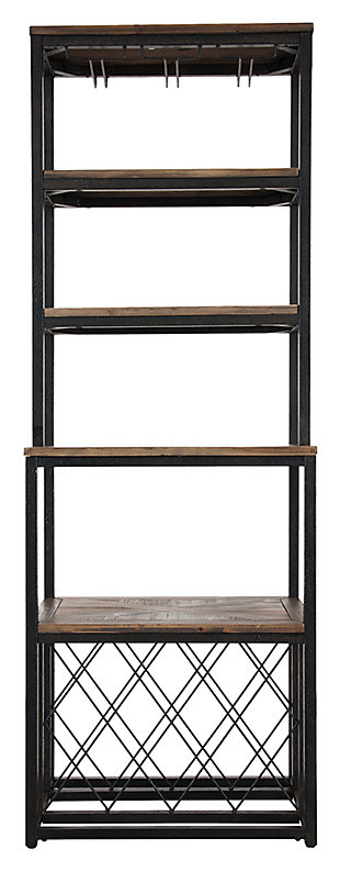SEI Reclaimed Wood Bakers Rack, , large