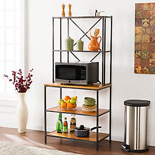 SEI Two-Toned Bakers Rack, , rollover