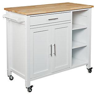 SEI Butcher Block Kitchen Cart, , large