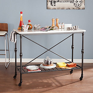 SEI Industrial Kitchen Island, , rollover