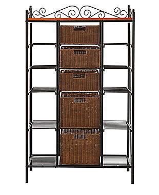 SEI 3 Drawer Bakers Rack, , large