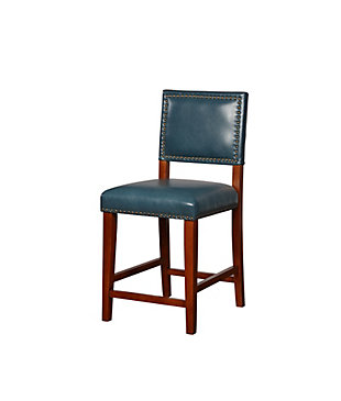 Linon Arden Pacific Blue Counter Stool, Blue, large