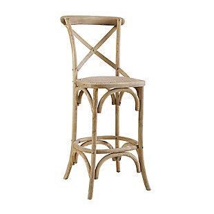 Linon Cara Gray Wash Counter Stool, Gray, large