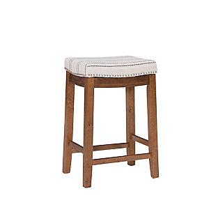 Linon Claridge Cognac PU Counter Stool, Brown, large