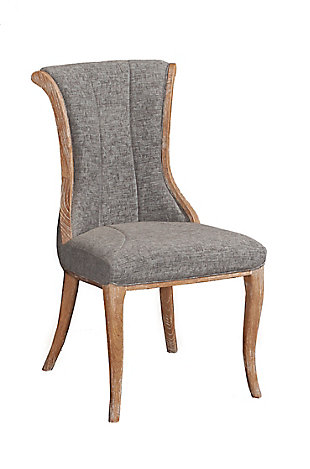 Linon Ivey Charcoal Flared Back Chair (Set of 2), , large