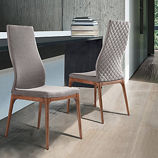 Armen Living Bacci Mid-Century Dining Chair in Walnut Finish (Set of 2), , rollover