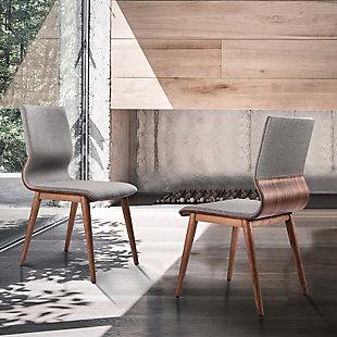 Armen Living Ava Mid-Century Dining Chair in Walnut Finish (Set of 2), , rollover