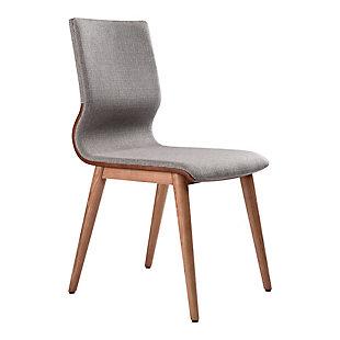 Armen Living Ava Mid-Century Dining Chair in Walnut Finish (Set of 2), , large