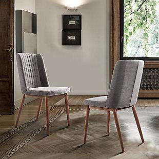 Armen Living Austin Mid-Century Dining Chair in Walnut Finish (Set of 2), , rollover