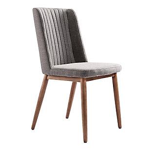 Armen Living Austin Mid-Century Dining Chair in Walnut Finish (Set of 2), , large