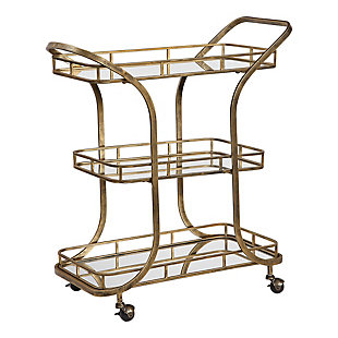 Uttermost Stassi Gold Serving Cart, , large