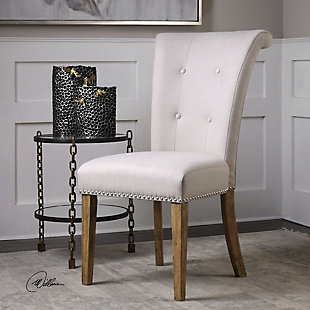 Uttermost Lucasse Oatmeal Dining Chair, , rollover
