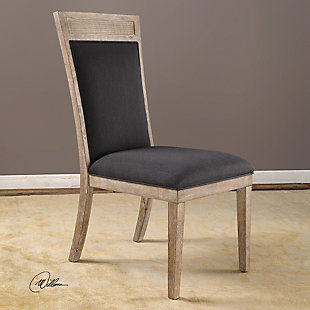 Uttermost Encore Dark Gray Armless Chair, , rollover
