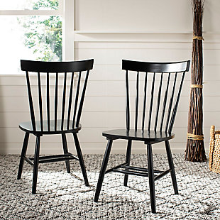 "Robbin 17"" Spindle Dining Chair (Set of 2), Black, rollover"