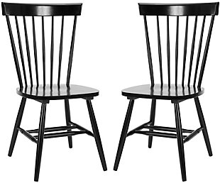 "Robbin 17"" Spindle Dining Chair (Set of 2), Black, large"
