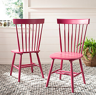 "Robbin 17"" Spindle Dining Chair (Set of 2), Raspberry, rollover"