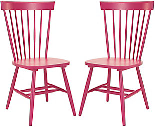 "Robbin 17"" Spindle Dining Chair (Set of 2), Raspberry, large"