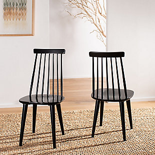 "Louis 17"" Spindle Side Chair (Set of 2), Black, rollover"