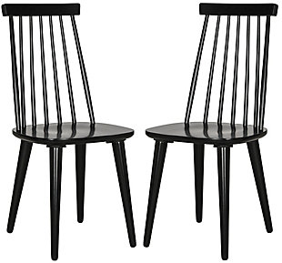 "Louis 17"" Spindle Side Chair (Set of 2), Black, large"