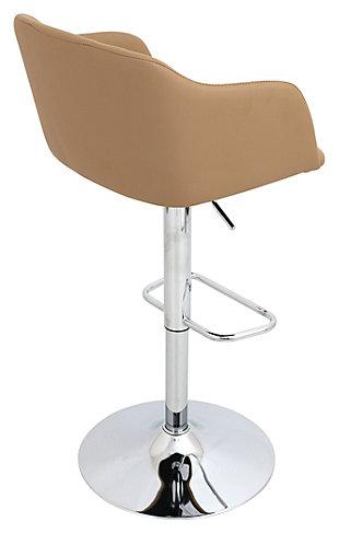 Campania Adjustable Bar Stool, Brown, large