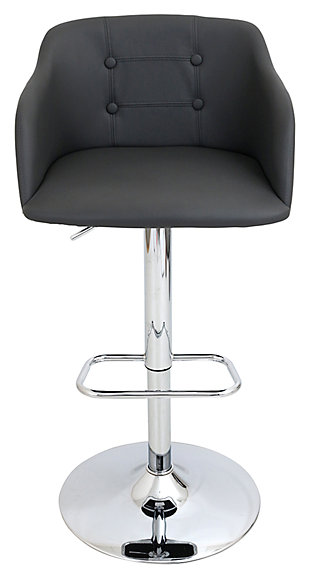 LumiSource Campania Adjustable Barstool, , large