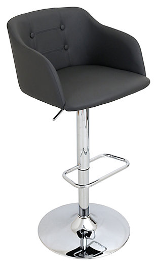 LumiSource Campania Adjustable Barstool, , rollover