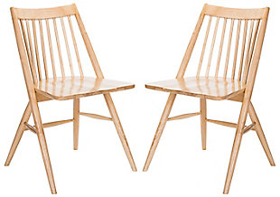 """Ava 19"""" Spindle Dining Chair (Set of 2), Natural, large"""