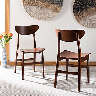 Boyle Mid Century Modern Dining Chair (Set of 2), Cherry, rollover