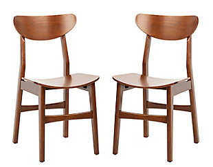 Boyle Mid Century Modern Dining Chair (Set of 2), Cherry, large