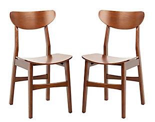 Boyle Mid Century Modern Dining Chair (Set of 2), Cherry, large