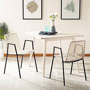 Cosi Leather Woven Dining Chair (Set of 2), , rollover