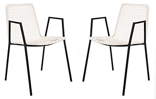 Cosi Leather Woven Dining Chair (Set of 2), , large
