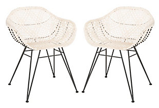 Damato Leather Woven Dining Chair (Set of 2), , large