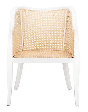 Carmella Elm Wood Dining Chair, White/Natural, rollover