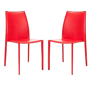 "Luna 19"" Stacking Side Chair (Set of 2), Red, large"