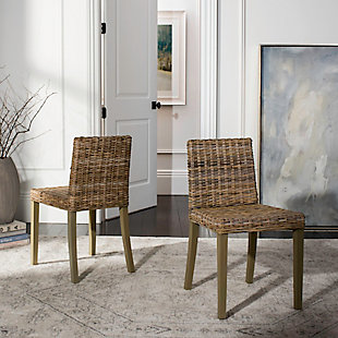 "Martin 18"" Wicker Side Chair (Set of 2), , rollover"