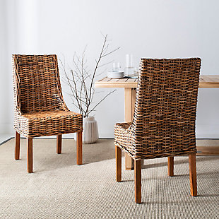 "Posano 18"" Rattan Arm Chair (Set of 2), Brown, rollover"