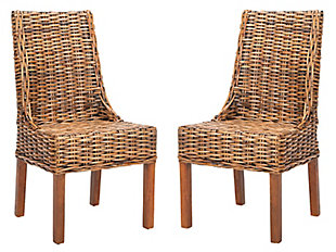 "Posano 18"" Rattan Arm Chair (Set of 2), Brown, large"