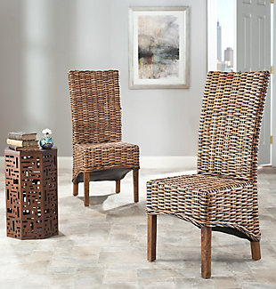 "Harvey 18"" Rattan Side Chair (Set of 2), , rollover"
