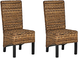 "Stout 19"" Rattan Side Chair (Set of 2), Natural, rollover"