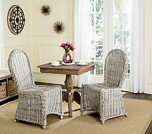 "Margarite 19"" Wicker Dining Chair (Set of 2), , rollover"