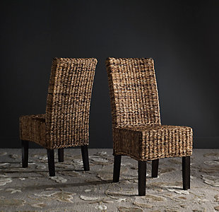 "Skylar 18"" Wicker Dining Chair (Set of 2), Natural, rollover"