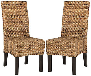 "Skylar 18"" Wicker Dining Chair (Set of 2), Natural, large"