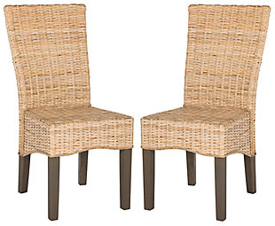 "Slyvia 19"" Wicker Dining Chair (Set of 2), Natural, large"
