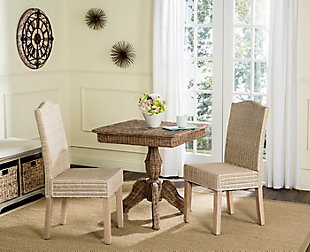 "Felicia 19"" Wicker Dining Chair (Set of 2), White Wash, rollover"
