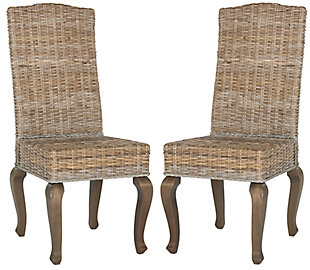 "Tintori 18"" Wicker Dining Chair (Set of 2), Gray, large"