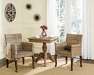 "Toriano 18"" Wicker Dining Chair (Set of 2), Natural, rollover"