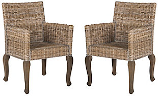 "Toriano 18"" Wicker Dining Chair (Set of 2), Natural, large"