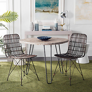 Trevi Wicker Dining Chair (Set of 2), Coco Brown, rollover