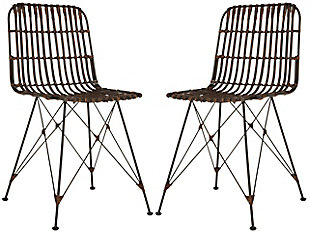 Trevi Wicker Dining Chair (Set of 2), Coco Brown, large